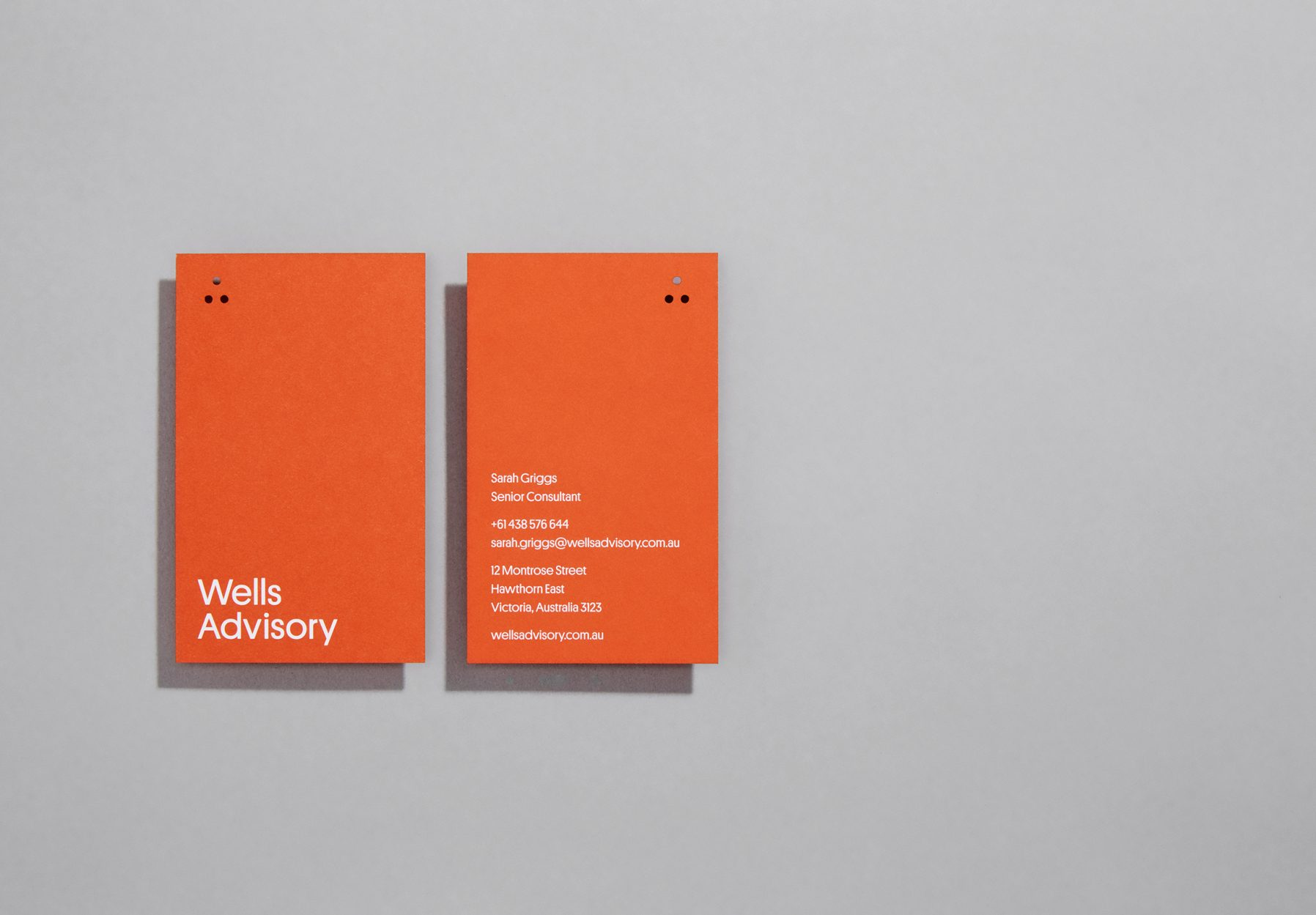 Wells Advisory Corporate Brand Design by JAC& Design Studio Collingwood Melbourne.
